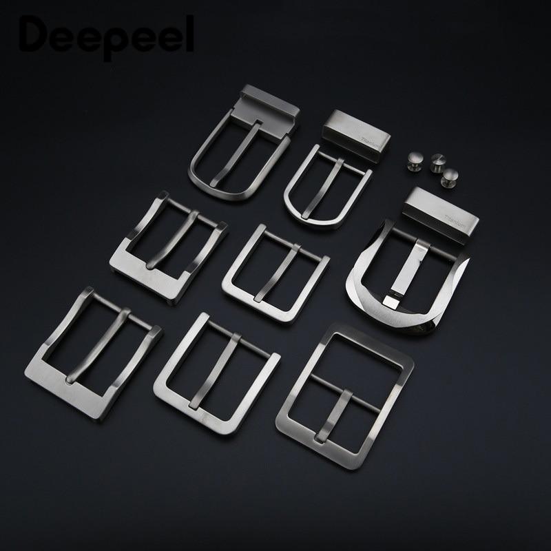 Deepeel 1pc 37-40mm Pure Titanium Alloy Belt Buckle Anti-allergy Pin Buckle Belt Head DIY Jeans Leather Craft Accessories YK041
