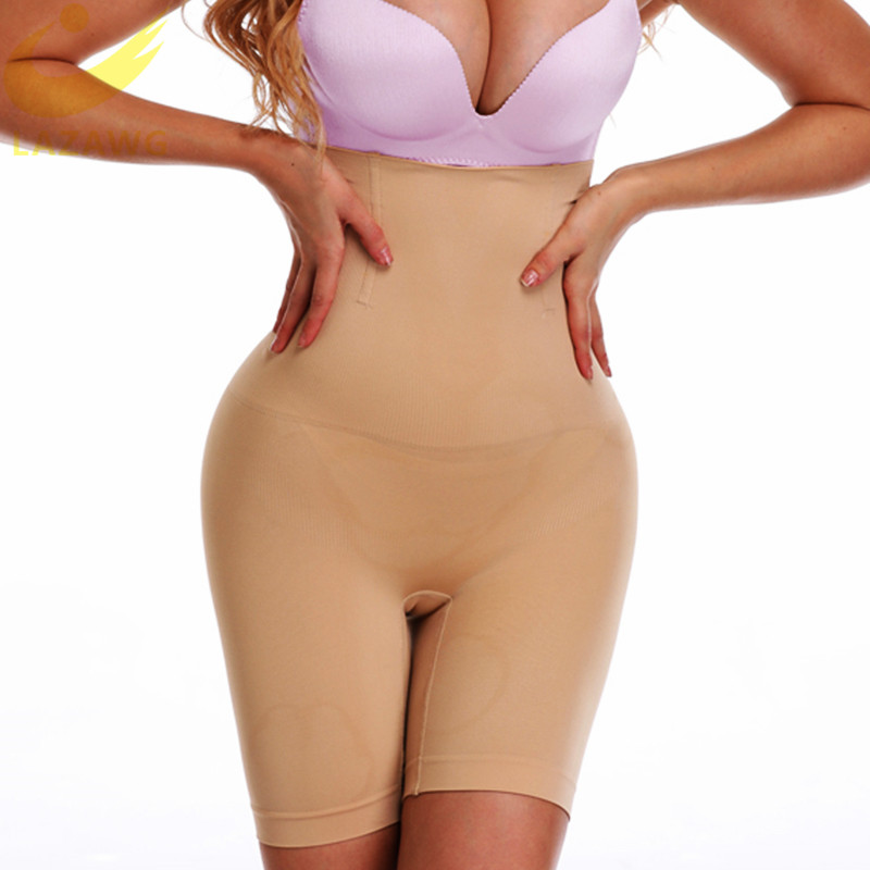 LAZAWG Women High Waist Tummy Control Boyshorts Thigh Slimmer Sexy Butt  Seamless Shapewear Slimming Body Shaper Cincher