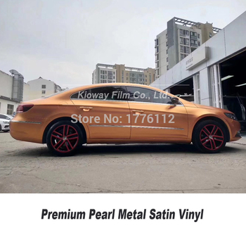 Highest quality  Matt metallic Vinyl Wrap color:copper  Air Release High-end low initial tack adhesive for High-end car