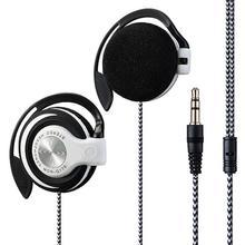 Universal 3.5mm Plug Wired Clip On Ear Sports Earphone Heavy