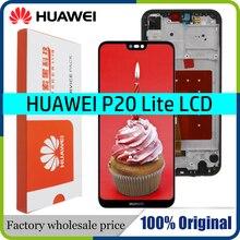 Pantalla LCD de 5,84 pulgadas para HUAWEI P20 Lite, pantalla táctil con Marco, ane lx3, Nova 3e, 10 unidades/lote