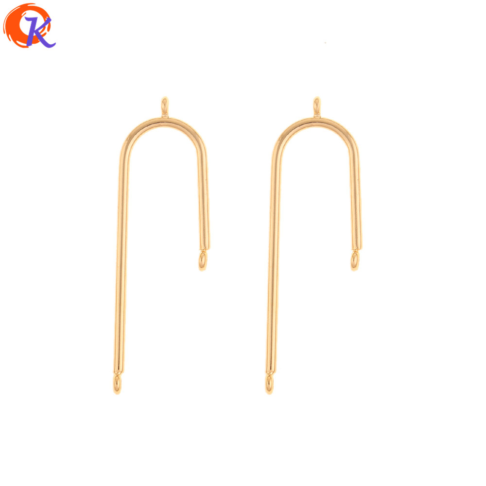 Cordial Design 30Pcs 13*41MM Jewelry Accessories/DIY Making/Earrings Connectors/Genuine Gold Plating/Hand Made/Earring Findings