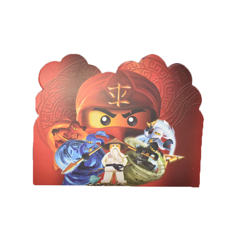 20pcs Legoing Ninjago Invitation Cards Baby Shower Party Supplies Favors Invitations For Kids Boys Birthday Party Decoration