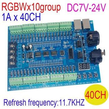 10 Group 16bit 11.7KHZ Refresh frequency 1Ax40 channel 40CH DMX512 RGBW DC7V-24V LED Decoder RGBW LED Controller Free shipping