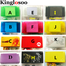 Limited Edition Style Transparent Clear Full set Housing Shell Case w/ button kit for Nintendo DS Lite DSL free Screwdriver