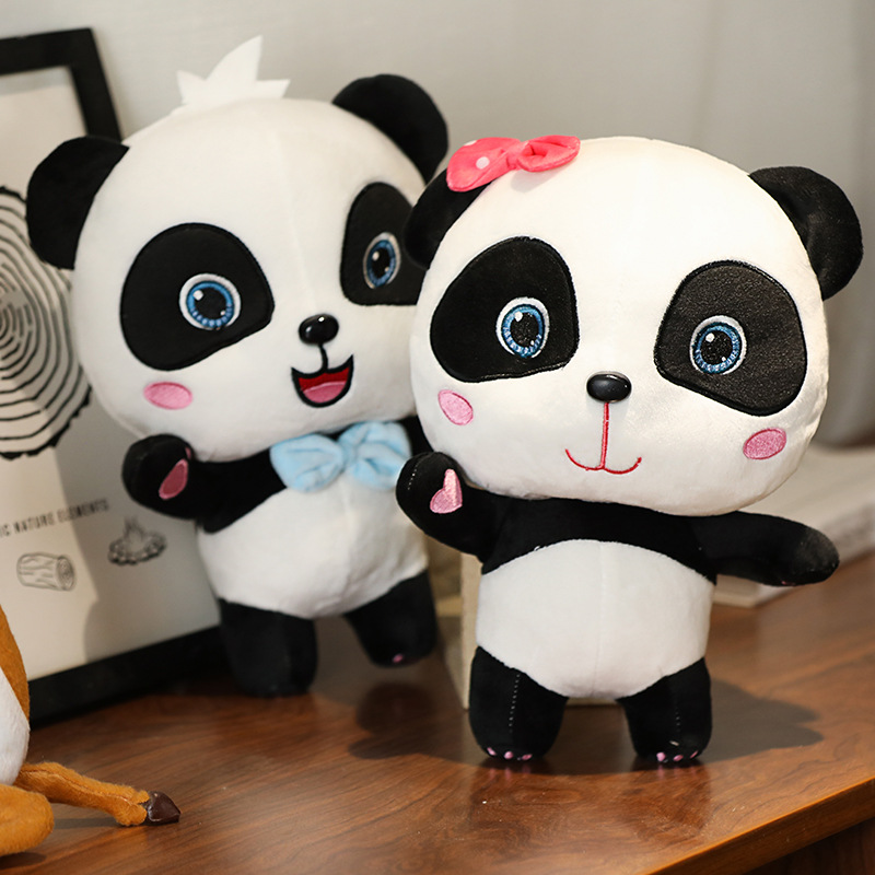 BabyBus New 22cm Cute Panda Plush Toys Hobbies Cartoon Animal Stuffed Toy Dolls For Kids Boys Baby Girl Birthday Christmas Gift