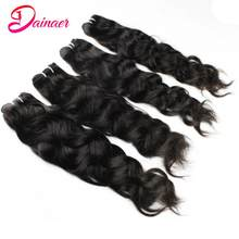 Natural Wave Human Hair 1/3/4 Bundles 28 30 Inches Can Be Dyed Indian Virgin Extensions Human Hair Free Shipping Dainaer Hair