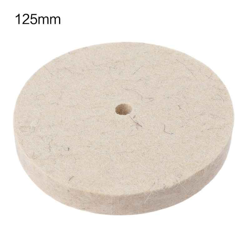 10Pcs 5 Inch Wool Felt Buffing Wheel Felt Polishing Pads for Angle Grinder Rotary Tool Abrasive Grinding