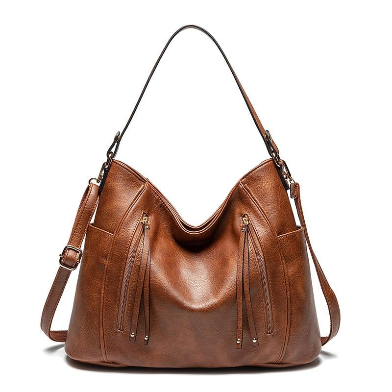 DIDABEAR Bucket Bags Fashion Women's Handbag Women Large Tote Bag Female Vintage Shoulder Bags Leather Hobo Bag