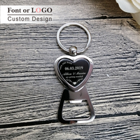 50pcs Bride Groom Personalised Key Ring Key Chain Beer Bottle Opener Personalized Wedding Favour Bomboniere Thank You Gifts