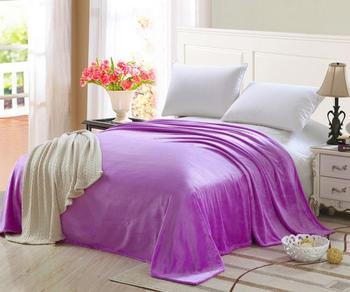 Plain Blanket Bed Sofa Car Soft Warm Bedspread Flannel Blankets
