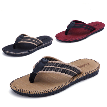 Summer couples men and women fashion trend flip flops home slippers non-slip beach sewing cool student clip outside slippers