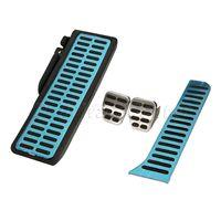 Pedais do carro inoxidável almofada acessórios pé resto capa acelerador gás pedal de freio embreagem para golf6 scirocco placa apoio para os pés