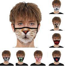 Em estoque reutilizável impresso respirável máscara de filtragem de ar pm2.5 máscara com filtros respiração boca máscara facial mascarilla #5