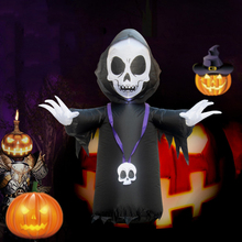Halloween LED Light Inflatable Ghost Skeleton Dolls Yard Decoration Outdoor Market 120cm