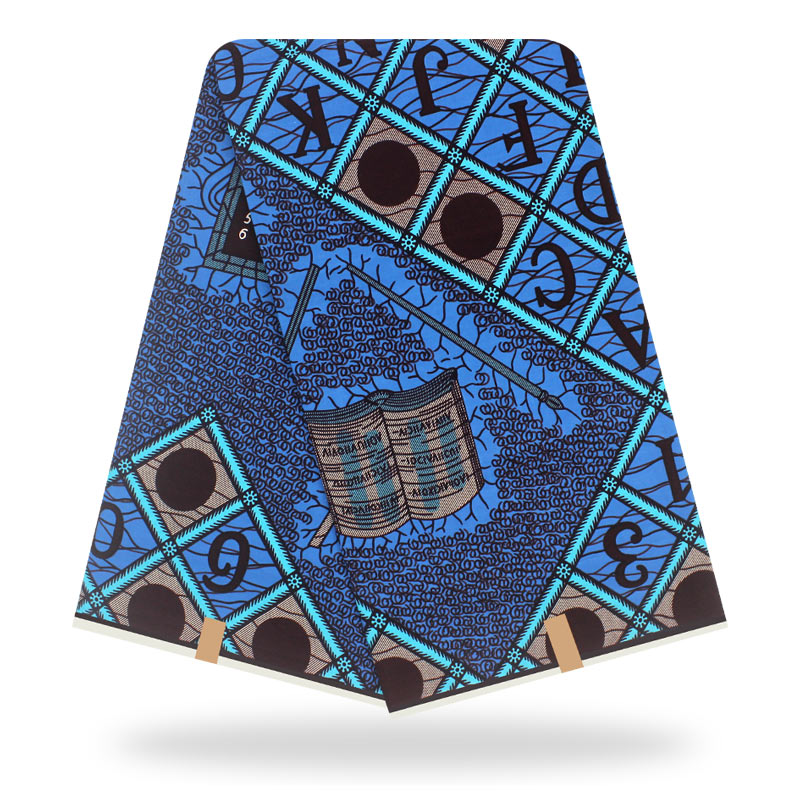 2020 New Dashikiage African Veritable Real Dutch Wax Fabric For African Women Dress Blue 100% Cotton Material Wax Print Fabric