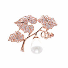 CINDY XIANG New Cubic Zirconia Grapes Brooches For Women Copper Brooch Girl Fashion Accessories Wedding Jewelry Shining Brooch(China)