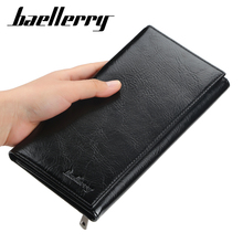 цена на Baellerry Brand Men Wallets Men Long Purse PU Leather Clutch Wallet Business Wallet Coin Purses Thin Money Bag Card Holder