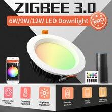 Умный потолочный светильник gledopto zigbee 30 pro rgbcct 6