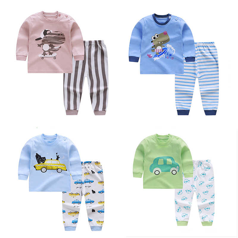 Baby Boys Clothing Sets Children Clothes Cartoon Long Sleeve T Shirt Striped Shorts Suit Tops Pants Sports Suit Kids Tracksuit