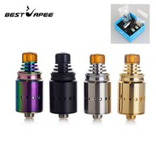 Newest Berserker MTL RDA 18mm tank atomizer with airflow intake single Coil Upgraded For E Cigarette Box mech Mod Vape colors(China)
