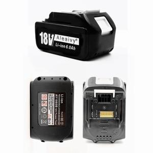 Image 3 - עם מטען BL1860 נטענת Batteries18V 6000mAh ליתיום יון עבור מקיטה 18v סוללה 6Ah BL1840 BL1850 BL1830 BL1860B LXT400