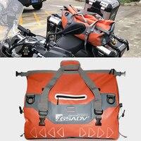 Motorcycle Motocross moto touring GS Waterproof Tail Bags Multi functional Durable Rear Seat Bag High Capacity PVC Bag 40/68/90L
