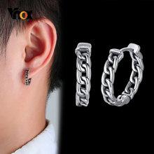 Vnox Antiken Stil Kette Ohrringe für Männer, Anti Allergie Edelstahl Hoop Ohr Clip Männlichen, rock Punk Männlichen Schmuck
