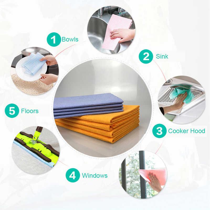 8 個キッチンタオル不織布吸収皿布抗グリース洗濯クリーニングぼろ家庭やキッチンのため車のワイパー