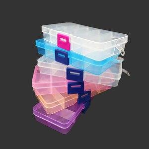 Case Jewelry-Box 10-Grids-Organizer Beads Storage-Box Adjustable Plastic Small 1PCS Key