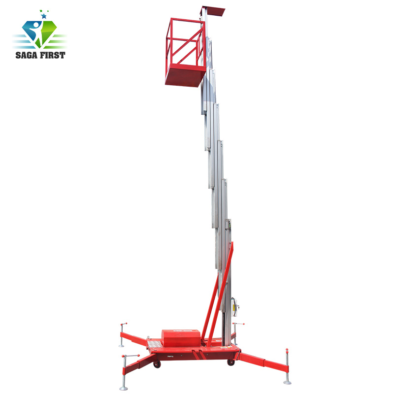 Europe Quality Aluminum Vertical Lift For Outdoor Indoor Aerial Work Use Hydraulic Aerial Work Platform 6m To 24m