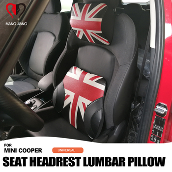 Car Neck Pillow Union Jack Seat Neck Headrest Lumbar Pillow Spine protection For mini cooper F54 F60 F55 F56 R60 R59 R58 R57 R55