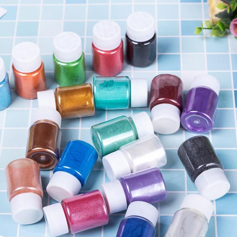 1 Pc Soap Dye Shimmer Mica Eyeshadow Powder Pigments For DIY Bath Bomb Soap Cosmetic Candle Party Making Eye Shadow Pearl Powder