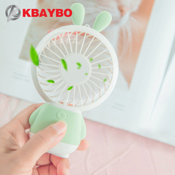 Mini USB Fan Portable Hand Fan with LED night light Battery Operated USB Power Handheld Fan Cooler Electric Laptop Fan for home