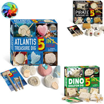 Dig shell pearl Pirate Treasures Dinosaur Fossils Excavation Toys Archaeological Model Toys for Children Kids Gifts chalets trendsetting mountain treasures