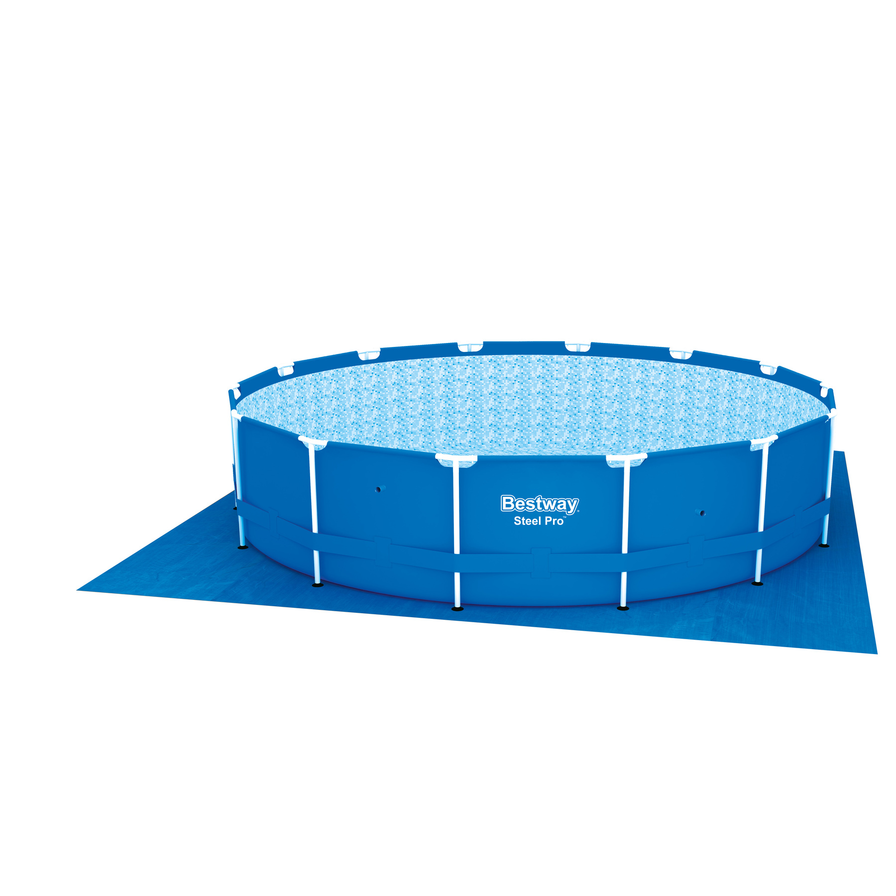 Scaffold Pool Round, For Garden, 427 X100 Cm, 12110 L (full Set), Bestway, Item No. 56422