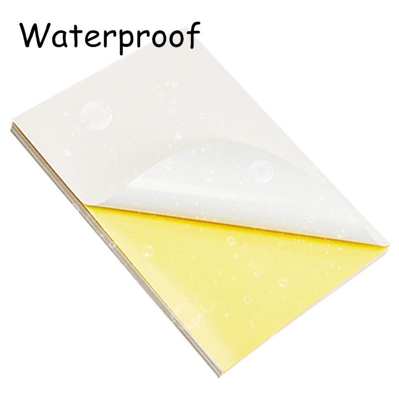 10 Sheets A4 White Self Adhesive Sticker Label Matte Surface Paper Sheet For Laser Inkjet Printer Copier Craft Paper