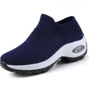 Image 5 - Zapatillas Mujer Mới Dành Cho Nữ Tenis Feminino Sock Không Khí Giảm Chấn Thường Lưu Hóa Giày Scarpe Donna Iệu Damskie Size 35  42