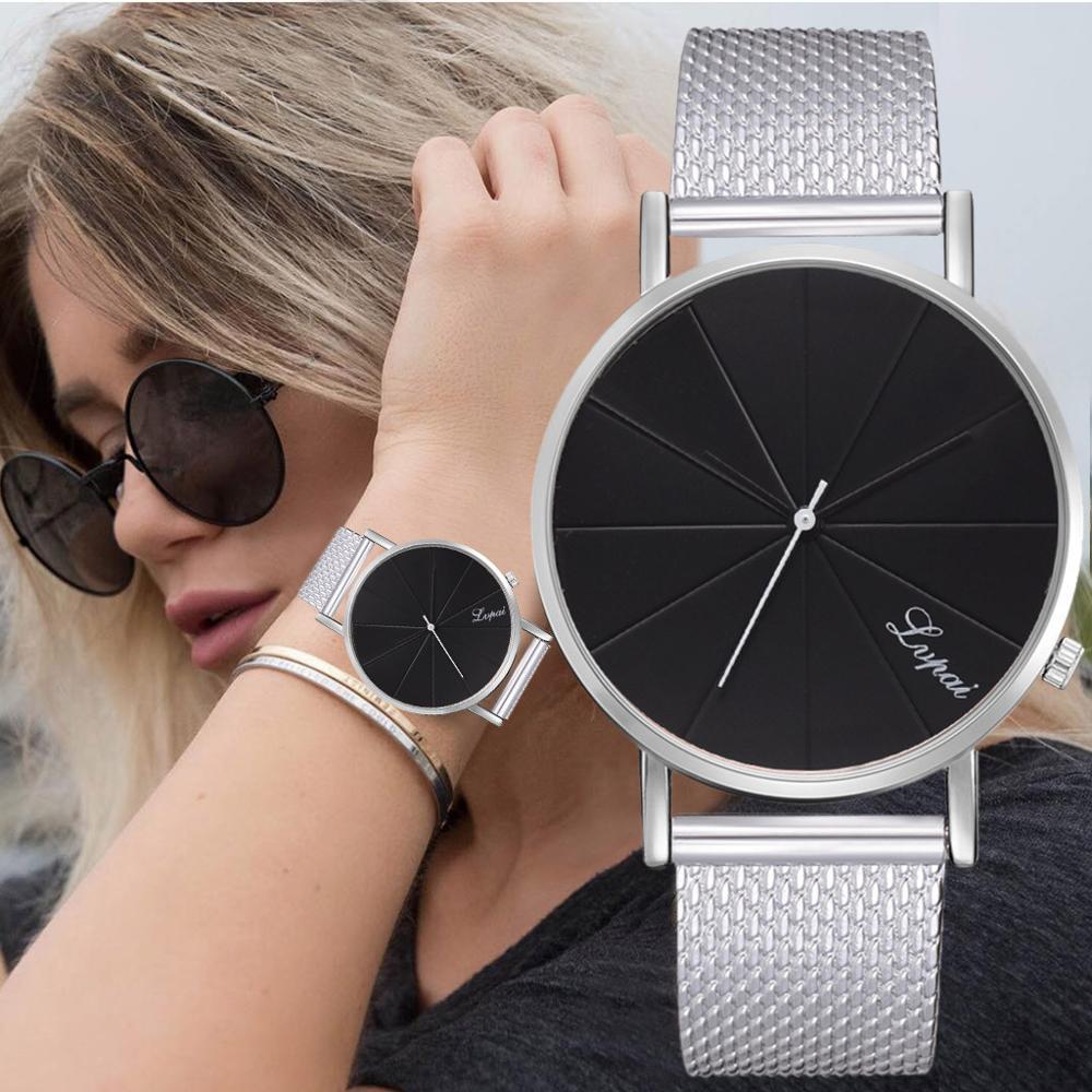LVPAI Simple Black Watch New Strap Women Watches Fashion Rose Gold Women Watches Ladies Watch Clock Reloj Mujer Zegarek Damski