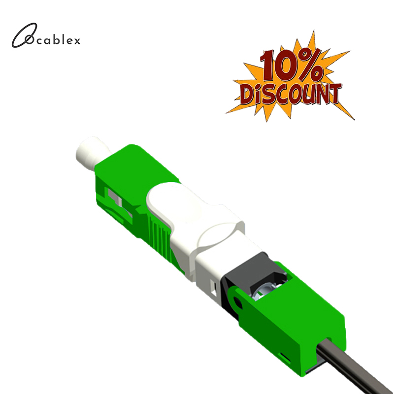O Envio gratuito de 100 pçs/lote ESC250D FTTH SC APC e UPC SC Single-Mode De Fibra Óptica Conector Rápido FTTH SM óptica Conector Rápido