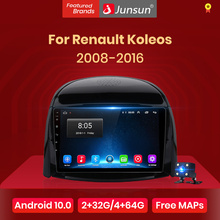 Автомагнитола Junsun V1 для Renault Koleos, мультимедийный видеоплеер на Android 10,0 с GPS, dvd, DSP, CarPlay, 2008-2016, типоразмер 2 din