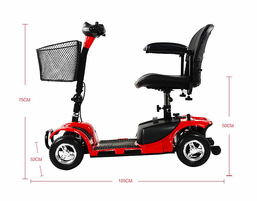 Four Wheels Electric Scooter Electric Scooters 24V 250W 8 Inch Portable Disabled Electric Elderly Scooter (2)