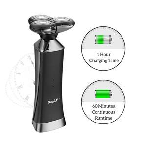 Image 3 - Электрическая бритва с быстрой зарядкой для всего тела, водонепроницаемая электробритва для влажной сушки, мощная бритвенная машина двойного назначения для мужчин, триммер для бороды 31