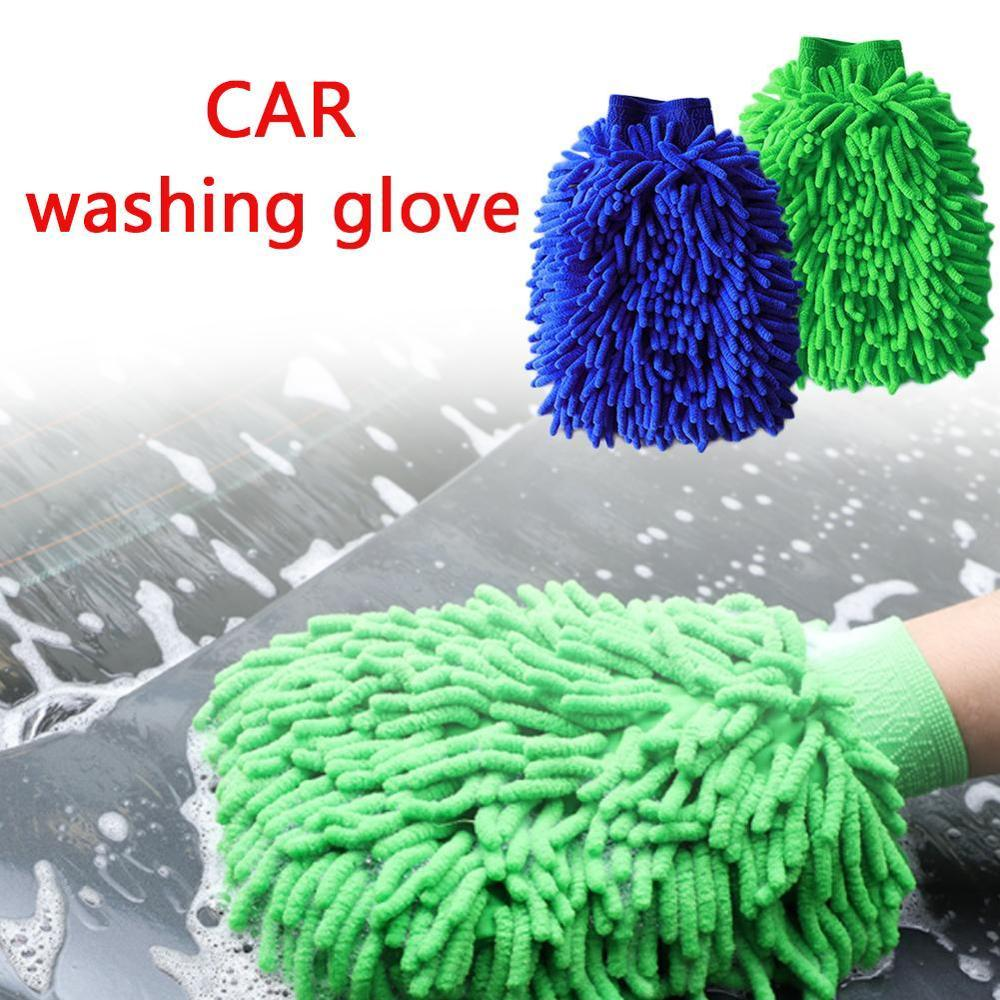 Ultrafine Fiber Chenille Car Wash Gloves Brushes Microfiber Motorcycle Washer Home Clean Brushes Window Washing Tool Auto Care