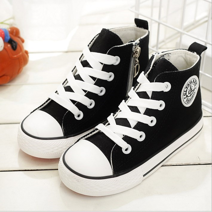 Children Canvas Shoes Girls Boys Sneakers Boots Autumn New Breathable 2019 Spring Fashion Kids Vulcanized Boys Shoes Student in Sneakers from Mother Kids
