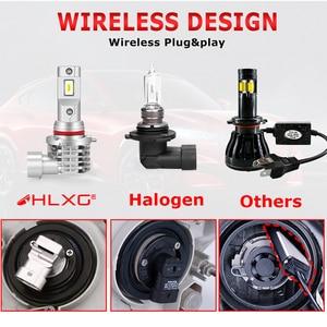 Image 4 - HLXG with Korea CSP chips H7 LED Bulb H4 Car Headlight Kit H11 H8 H9 Fog Lamp mini Headlamp Light 12V 9005 HB3 9006 HB4 LED H7
