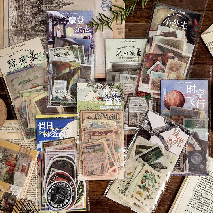 60 pcs/pack Retro Clock stop series Decorative Stickers Adhesive DIY Decoration Diary Modern magazin