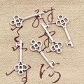 50 шт., винтажные Подвески в виде ключа-скелета, 25x9 мм