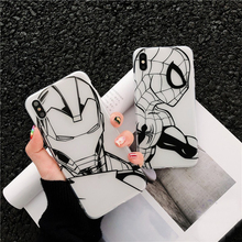 Spiderman iron Man Case For iphone 7 8 6 6s Plus Case For iphone X XR
