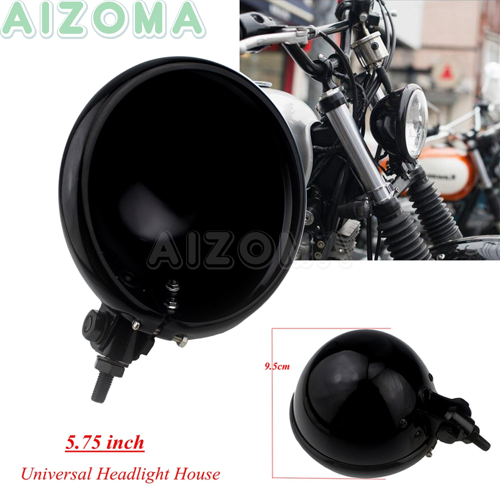 "5-3//4/"" 5.75 Inch Led Headlight Housing Bucket Shell for Harley Honda"